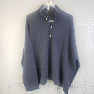 Eskander Navy Heathered Oversized Sweater